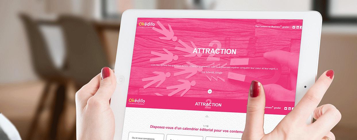 Content-to-Business grader - Diagnostic inbound marketing Okédito