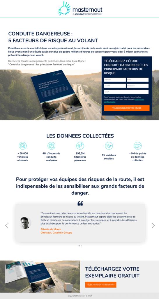Exemple de landing page avec Okédito