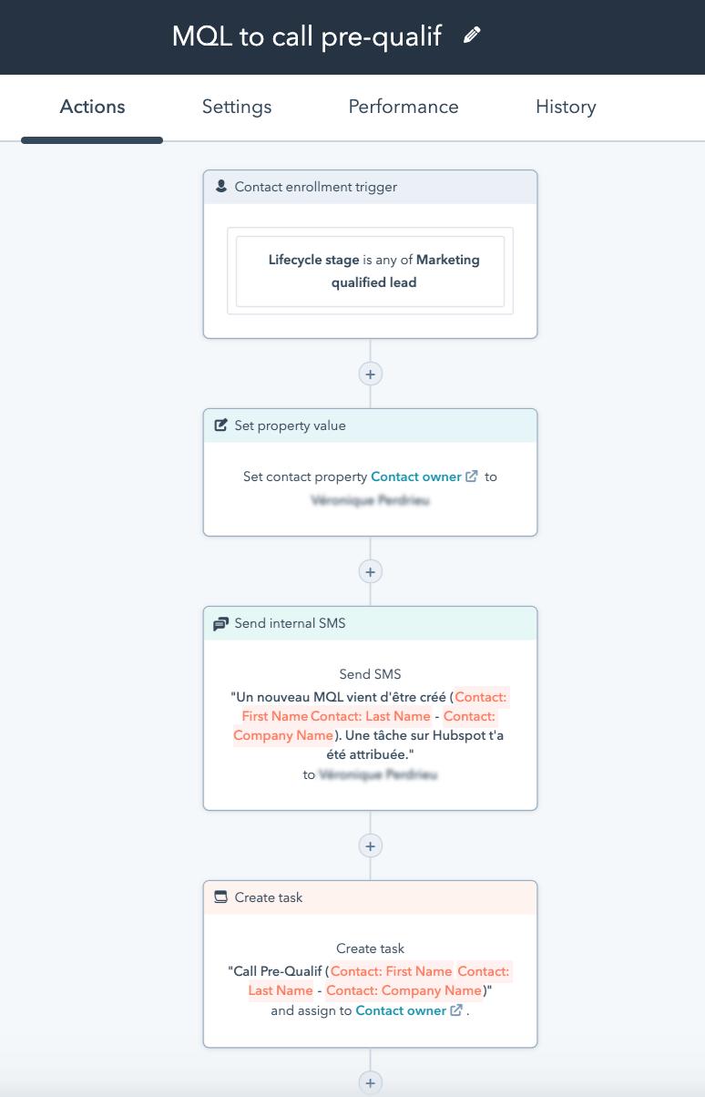 Workflow de hand-off avec Okédito