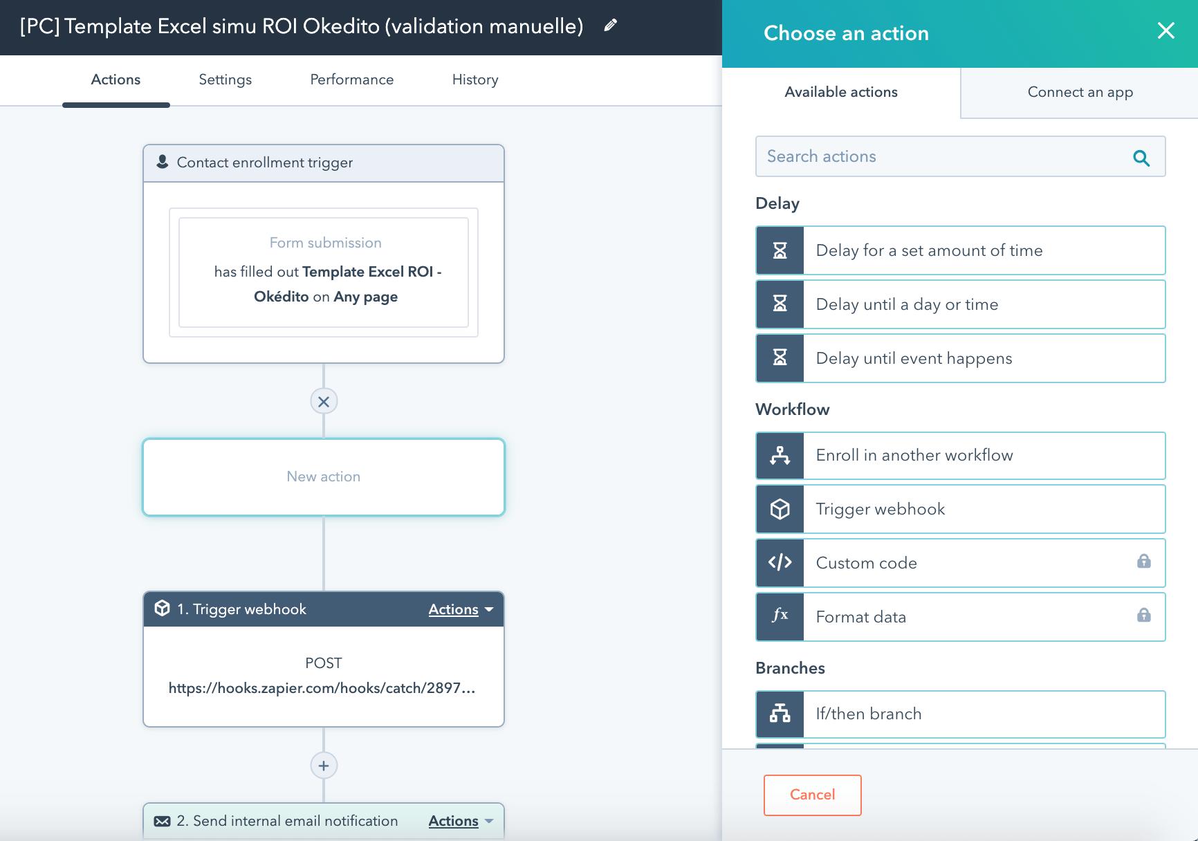 Formation marketing digital : création d'un workflow avec HubSpot