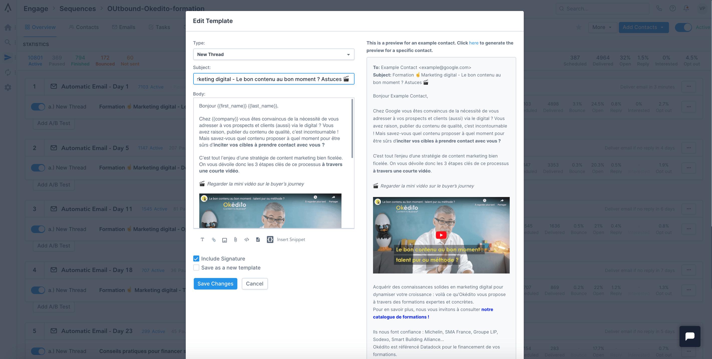 Formation marketing digital : intégration des emails de campagnes avec Apollo.io
